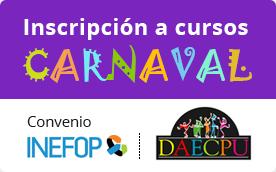Inscripción a cursos - Carnaval