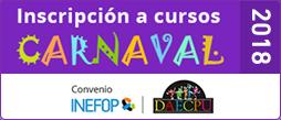 Inscripción a cursos 2018 - Carnaval
