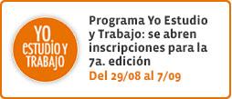 Programa Yo Estudio y Trabajo:  7a. edición