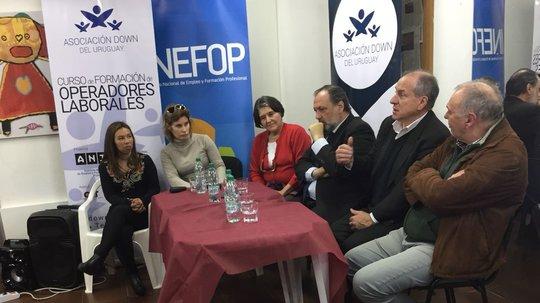INEFOP apoya capacitación de la Asociación Down del Uruguay